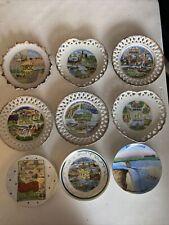 vintage state plates Set Of 9