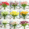 5PC Multicolored PU Tulip Artificial Flowers DIY Wedding Decor Home Supplies NEW