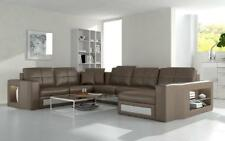 Ecksofa Ledersofa Big XXL U Form Wohnlandschaft Sofa Couch Garnitur Neu H2210