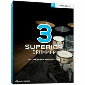 Toontrack Superior Drummer 3 - Virtual Instrument & Drum Production Plug-in ESD