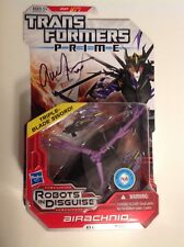 Transformers Prime Airachnid figure sealed MOC signed by actress Gina Torres