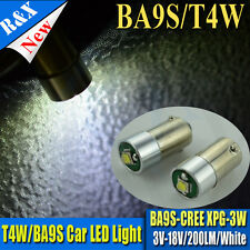 1x Super bright 3V 6V 12V 18V CREE 3W LED bulb BA9S T4W Car Light 200LM 6000K