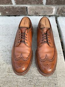 Alden for J. Crew Longwing Bluchers in Tobacco Calf. Size 8.5 B/D. Barrie Last