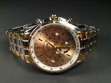 Luxueuse Montre Pour Homme Gold Stainless Steel Analogue Quartz