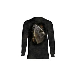 The Mountain Adult Song of Autumn Wolves Longsleeve T Shirt