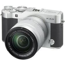 Fujifilm X-A3 Mirrorless Digital Camera with 16-50mm Lens (Silver) BRAND NEW!!