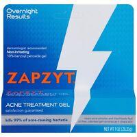 Zapzyt Benzoyl Peroxide 10% Acne Spot Treatment Gel 1 oz