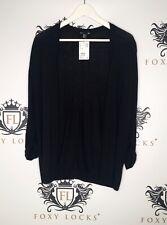 H&M - Basic Black Knit 3/4 Length Sleeve Cardigan - Size XS - BNWT