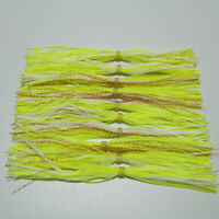 10pc silicone Skirt For SpinnerBait jig Skirt Fishing Skirts with flash skirt054