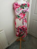 Laura Ashley occasion multicolored floral dress size 14 UK EUR 40