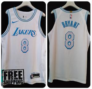 Los Angeles Lakers 8 Kobe Bryant White City Swingman Edition Jersey Nike NBA