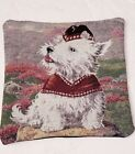 West Highland White Terrier Dog tapestry pillow by Golden Horn Creations new