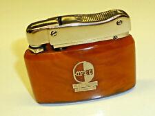 "K 300 (cometa) ""Henry Uhl"" Pocket lighter w. Amber Corpus - 1960-Germany-Nice"