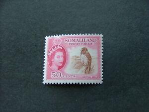 Somaliland Protectorate QEII 1953 50c brown & rose-carmine SG143 UM/MNH