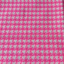 Vintage Cotton Check Hot Pink White Fabric 44x100cm Sewing Craft NOS