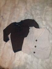 Boys 6-9 Months smart Top Jumper Sweatshirt Striped Vest Bundle Next Day