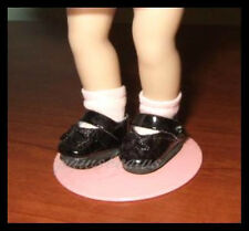 "BLACK Patent Mary Jane SHOES fit 5.5"" MINI GINNYBarbie Club Chelsea PUKI PUKI"