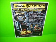 Deal Or No Deal Original 2007 Video Arcade Game Promo Paper Sales Flyer ICE Inc.