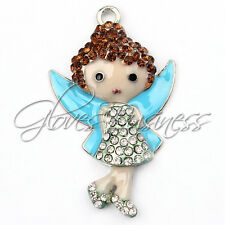 1PC 49*28mm Little Fairy Rhine Pendant Charm For Bubblegum Chunky Bead Necklace