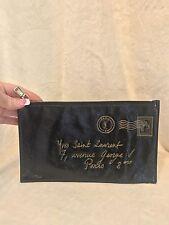 """YSL Saint Laurent Y-Mail Black Patent Leather Handbag MINI BAG POUCH, 9.5"""" x 6"""""""