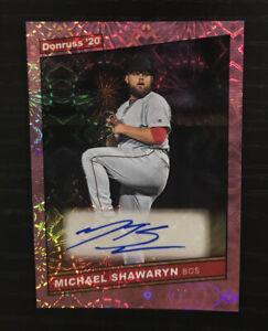 2020 Donruss Michael Shawaryn Auto Firework Parallel 12/199 Boston Red Sox