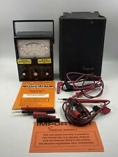 Simpson 260 Multimeter Series 6xlpm With Case Manual Amp Test Leads Nice