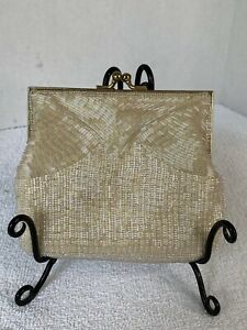 Vintage Ivory Magid Beaded Glass Evening Bag Hand Made In China
