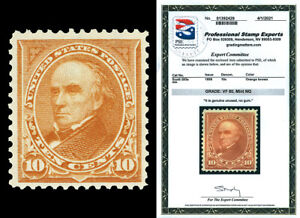 Scott 283a 1898 10c Webster Vertical Watermark Unused F-VF Cat $250 w/ PSE CERT!