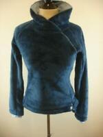 Womens sz S Mountain Hardwear Blue Fleece Pullover Sweater Jacket Side Zip Mock