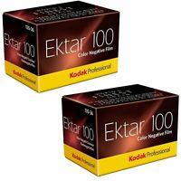 2 pack Kodak Professional Ektar 100 Color Negative Film 35mm Film 36 Exposures