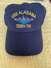 USS Alabama SSBN-731 Ball Cap Embroidered Submarine Dolphins