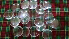 30 Pieces Clear Magnifying Round Glass Dome Cabochons Seals 1 Inch 25mm New