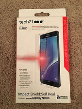 Tech21 Impact Shield Self Heal Screen Protector Samsung Galaxy Note 5 NEW
