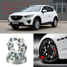 """4pcs 1"""" Wheel Spacers Adapters 5 Lug 5x4.5""""/5x114.3-12x1.5 Studs For Mazda CX-5"""