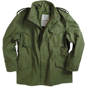 Alpha Industries M65 Field Jacket. Olive Genuine Alpha M-65 JKT302