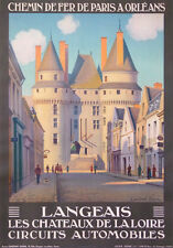 LANGEAIS CASTLES OF LOIRE IN FRANCE CIRCUITS AUTOMOBILES  BY CONSTANT DUVAL