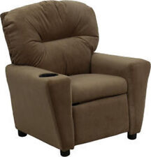 Flash Furniture Contemporary Brown Microfiber Kids Recliner w/Cup Holder New