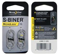 Niteize S Biner MicroLock  Extra-sicherer S-Biner Edelstahl inkl. Schloss NEU!!