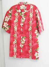 Aloha Hawaii Mens Red Hibiscus Hawaiian Aloha Short Sleeve Shirt Sz XL - NWT