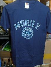 Official NCAA, Mobile Alabama Athletic, Navy Printed T-Shirt (Small), BRAND NEW