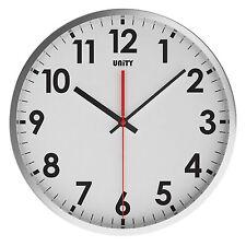 Unidad gairn Silent Sweep non-ticking 30cm blanco de estilo contemporáneo Dial Reloj De Pared