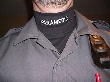T-Shirt Mock Neck BLACK PARAMEDIC long sleeve