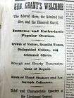 1865 Civil War NY Times newspaper GEN ULYSSES S GRANT HERO TOUR in New York City