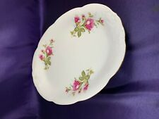 Walbrzych MOSS ROSE Oval Serving Platter 13""