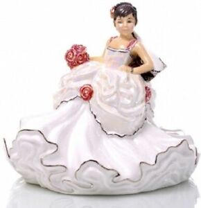 THE ENGLISH LADIES CO GYPSY WEDDING DREAMS MINI BRIDE BRUNETTE DOLL FIGURE BOXED