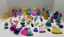Mixed Lot Polly Pocket Disney Princess Prince Dolls Snap On Dress Rubber Ariel