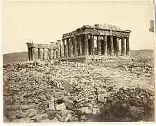 Bonfils. Grèce, Athènes, parthénon  Vintage albumen print. Félix Bonfils, né le