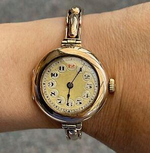 Rare Rolex 9K Rose Gold Watch 24.22G