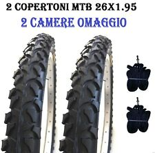 2 Copertoni Bici MTB 26 X 1.95(54-559) Nero Gomme Bicicletta Mountain Bike