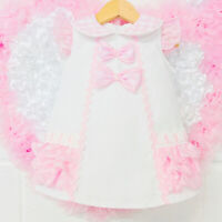 *SALE* Stunning Wee Me Baby Girl White Spanish Dress with Organza Details
